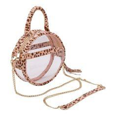 Circle Clear Handbag- Cheetah- Policy Handbags- Clear Purse- Circle Purse- Clear  Handbags- Clear Bag bf5816905c5f8