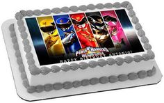 Power Rangers Megaforce Edible Birthday Cake Topper OR Cupcake Topper, Decor