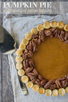 Sweet Potato Pie With Maple Candied Pecans Recipe — Dishmaps