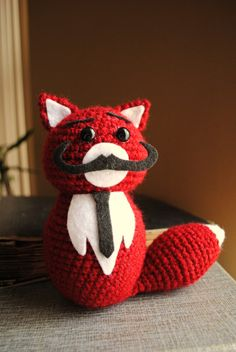 Own a stuffed animal with a mustache:)
