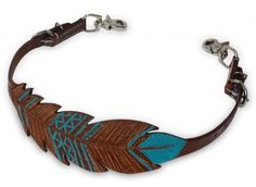Showman ® Cut-out, hand painted feather wither strap. This strap features medium oil leather with a cut-out and tooled feather design with teal hand painted accents. Easily adjusts with 2 buckles Equestrian Boots, Equestrian Outfits, Equestrian Style, Equestrian Fashion, Horse Fashion, My Horse, Horse Tack, Horse Saddles, Wither Strap