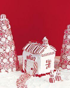 Peppermint Milk-Carton House-let the little folks help!!