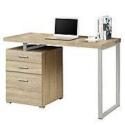Shop Staples® for Monarch Reclaimed-Look 48'' Left-or Right-Facing Desk, Natural and enjoy everyday low prices, and get everything you need for a home office or business.