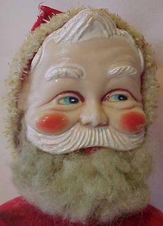 Vintage 1930's Stuffed Wool Felt Santa