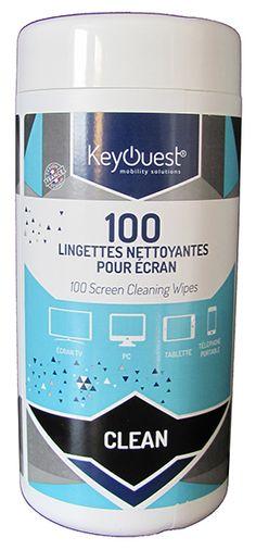 100 lingettes nettoyantes pour écran  - KeyOuest http://www.keyouest-mobility.com/produits/lingettes-nettoyantes-pour-ecran-keyouest/