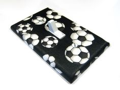 Soccer Ball Light Switch Cover Soccer Nursery Decor Soccer Bedroom Decoration Sports Bedroom Switchplate Switch Plate by ModernSwitch on Etsy https://www.etsy.com/listing/95148012/soccer-ball-light-switch-cover-soccer