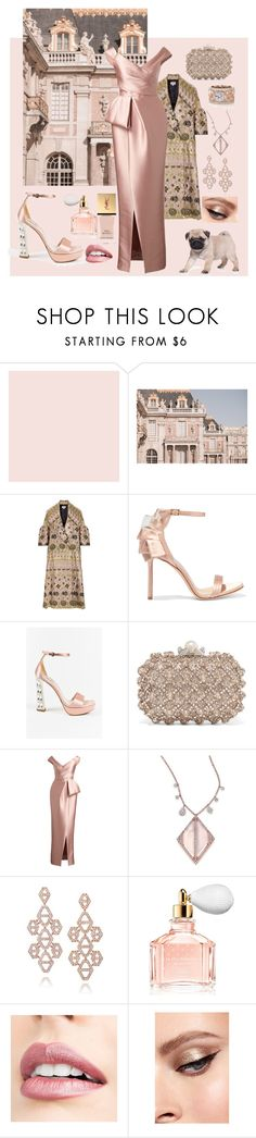"""Charity Ball At Versailles"" by kindlefraud ❤ liked on Polyvore featuring Farrow & Ball, Temperley London, Jimmy Choo, Miu Miu, Monique Lhuillier, Meira T, Walters Faith, Guerlain, Jouer and Yves Saint Laurent"