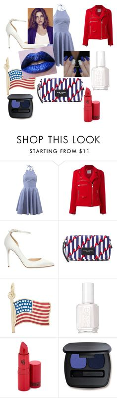 """U.S.A"" by sorinetyb ❤ liked on Polyvore featuring Michael Kors, Anine Bing, Jimmy Choo, Marc Jacobs, Rembrandt Charms, Essie, Lipstick Queen and Bare Escentuals"