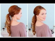 Retro Inspired Ponytail - YouTube