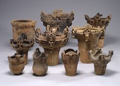 """The Jōmon Pottery is a type of ancient pottery which was made during the Jōmon period in Japan. The term """"Jōmon"""" means """"rope-patterned"""" in Japanese, describing the patterns that are pressed into the clay."""