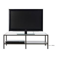 VITTSJÖ TV unit - IKEA $39.00 with the metal part spray painted gold or white?