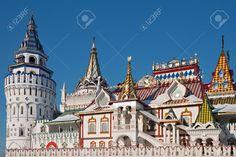 Izmailovskiy Kremlin à Moscou, ancienne architecture russe