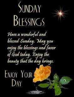 Sunday Blessings.