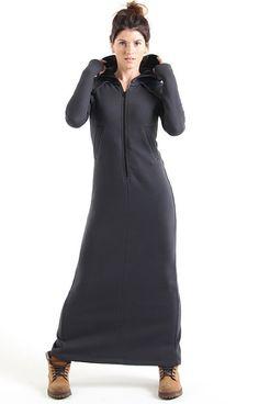 Утепленное длинное платье «ULA».  Графит 7900 руб. 80% хлопок 20% полиэстер