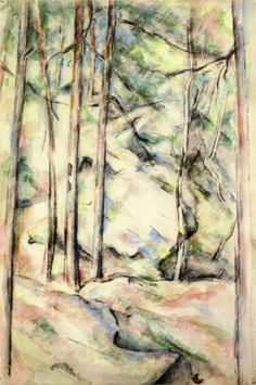 Paul Cézanne. In the Woods