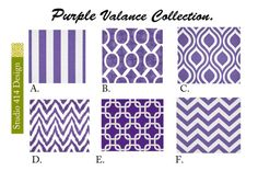 Purple Valance. Purple  Valence.Purple Window by Studio414Design, $18.00