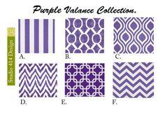 Purple Valance. Purple  Valence.Purple Window by Studio414Design, $18.00