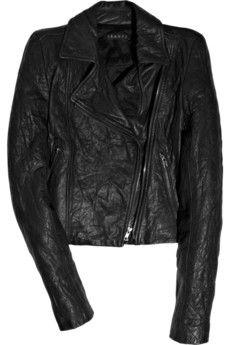 Theory Reanne leather biker jacket | NET-A-PORTER