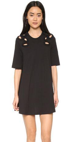 McQ - Alexander McQueen Cut Out T Shirt Dress   SHOPBOP