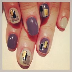 Simple block art nails (NailSalon AVARICE)