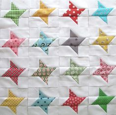 Let this Twinkle Twinkle Scrappy Star quilt block tutorial brighten your nights and inspire you to make a full friendship star-patterned quilt.