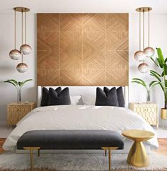 View this Contemporary, Modern, Glam bedroom by Havenly designer Julio. Shop products and even start designing your own space! Glam Bedroom, Home Bedroom, Bedrooms, Modern Pillows, Decorative Throw Pillows, Pillow Inspiration, Scandinavian Design, My Dream Home, Sweet Home