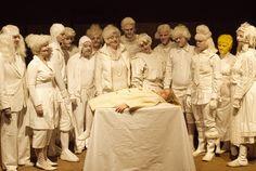 """I ONLY APPEAR TO BE DEAD"" ( A musical performance about H.C. Andersen by Hotel Pro Forma) 2005. Set design: Maja Ravn, Ralf Richardt Strøbech, Kirsten Dehlholm     Costumes: Maja Ravn     Light design: Jesper Kongshaug."