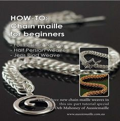 Learn 3 new chainmaille weaves with Deb Mahoney of www.aussiemaille.com in our new issue - get it here: http://www.joomag.com/magazine/digital-beading-magazine-issue-11/0912822001408173490