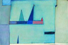 """Jerzy Nowosielski, """"Skrzydło archanioła"""", 1947, fot. dzięki uprzejmości Fundacji Nowosielskich (źródło: materiały prasowe organizatora) Krakow, Abstract, Artwork, Polish, Painting, Archangel, 2d, Design, Wings"""