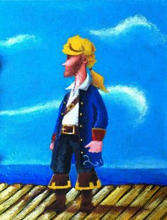 Good morning everyone! We start our new day with a new listing! Pirate! Excited to share the latest addition to my #etsy shop: Pirate oil painting (original) http://etsy.me/2Ej86AE #oilpainting #painting #art #acrylicpainting #pirate