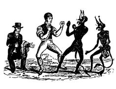 Thomas Bewick, Man Boxing with a Devil, 1784