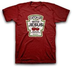 Catch Up With Jesus Christian T-Shirt: Clothing *Click image to check it out* (affiliate link)