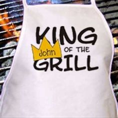 """His"" Grill Apron Personalized Father's Day Gift"