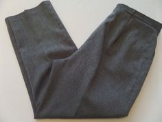 PANTS Men's Pants Size-34 Relaxed Gray Made in USA Very Good! #Pants #CasualPants
