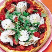 Pizza au chèvre - une recette Pizza - Cuisine