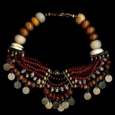 piece by Milene Rust.  She is an avid collector of old beads and her necklaces are absolutely gorgeous.  |  Tribal Collections Design | SOLD