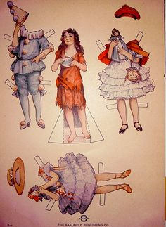 Mary Pickford paper doll, c. 1920s