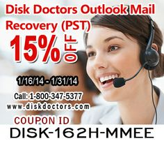 #DiskDoctors gives you 15% discount on Outlook Mail Recovery (PST) #software. Get the code and enjoy the instant discount.