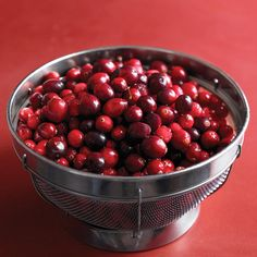 In Season: Fresh cranberries are available from October through December. Some markets also carry frozen cranberries year-round. What to Look For: Look for bright-colored firm cranberries in the produce section. Avoid bags that have brown or shriveled berries at the bottom. How to Store: Store in the original packaging for up to two weeks in the refrigerator, or up to one year in the freezer. To prep, rinse and discard any discolored or soft berries; if frozen, there's no need to...