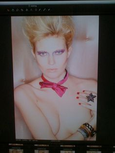 80's avaunt garde hair by Janine Whitman make up by Katherine O'Brien products Kerastase lift vertige and forme fatale.