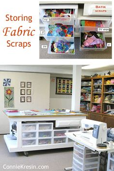 Sewing Quilts Storing Island Batik Scraps and other quilt fabric scraps and sizes I cut them to - Quilt fabric and batik scrap storage in my quilt studio and my favorite sizes to cut them into. Perfect for any scrappy quilt project and ready to use.