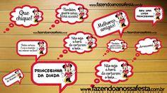 Plaquinhas Divertidas para Fotos da Minnie Vermelha!