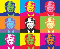 Is Donald Trump narcissus and sociopath with extremely primitive personality? Is Donald Trump suffering from a deep psychological defect? Donald Trump, George Clooney, Andy Warhol, Joe Biden, Barack Obama, Ukraine, Trump Poster, Pop Art, Creepy