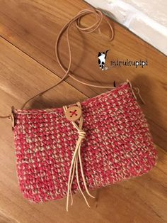 Crochet Handbags, Crochet Bags, Knitted Bags, Knit Crochet, Handmade Bags, Clutch Purse, Twine, Crochet Projects, Purses And Bags