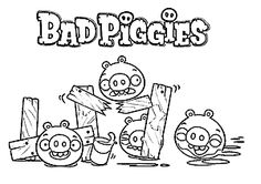 Bad Piggies coloring pages
