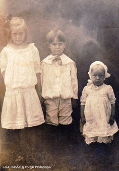 Lola, David & Hugh, children of John David & Rebecca Gentry Parkerson.  Lola was wife of Frank James Braley, brother to my paternal g-mother, Ora Braley Coffee