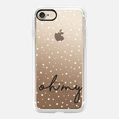 Casetify iPhone 7 Case and Other iPhone Covers - OH MY white spots black words by Maria Kritzas | #Casetify