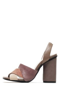Jeffrey Campbell Shoes ISMAY New Arrivals in Taupe Combo