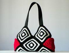Crochet Bag granny square crochet purse women fashion  by NzLbags, $70.00