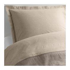 IKEA - MALOU, Bettwäscheset, 2-teilig, 140x200/80x80 cm, , Vor dem Weben durchgefärbtes Garn für weiche, schmiegsame Bettwäsche.Dichtgewebte feinfädige Garne sorgen für angenehmen Griff und lange Haltbarkeit.Bettbezug mit verschiedenfarbigen Seiten - so lässt sich der Stil im Schlafzimmer variieren.Verdeckte Druckknöpfe am Bezug verhindern, dass die Decke herausrutscht.